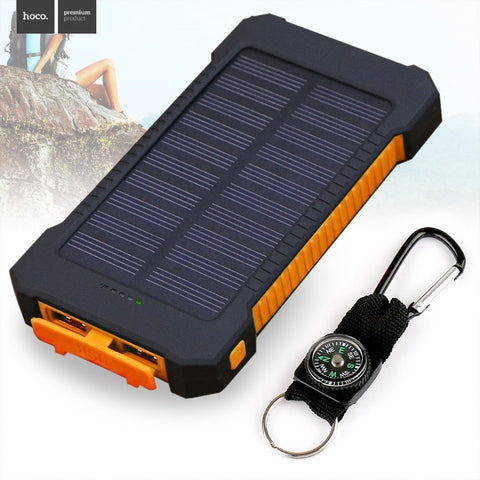 New Solar Power Bank Dual USB Charge 20,000 mAh