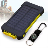 New Solar Power Bank Dual USB Charger 20,000 mAh