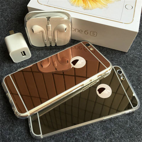 Luxury Mirror Electroplated Soft Clear Top Cases For iPhone 6