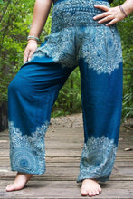 Load image into Gallery viewer, Blue Buddha Yoga Pants - Buddha Vibrations