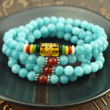 Load image into Gallery viewer, 108 Blue Stone Bracelet - Buddha Vibrations