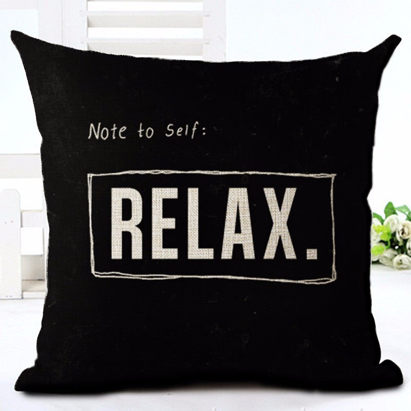 Note To Self, Relax!  Pillow Case