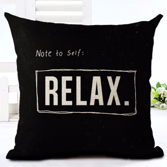 Note To Self, Relax!  Pillow Case - Buddha Vibrations