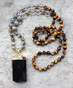 Black Tourmaline Handmade Necklace - Buddha Vibrations