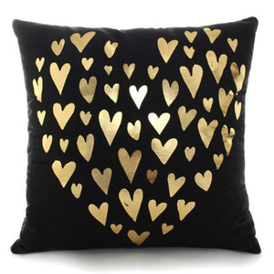 Gold Printed Decorative Pillow Case - Buddha Vibrations