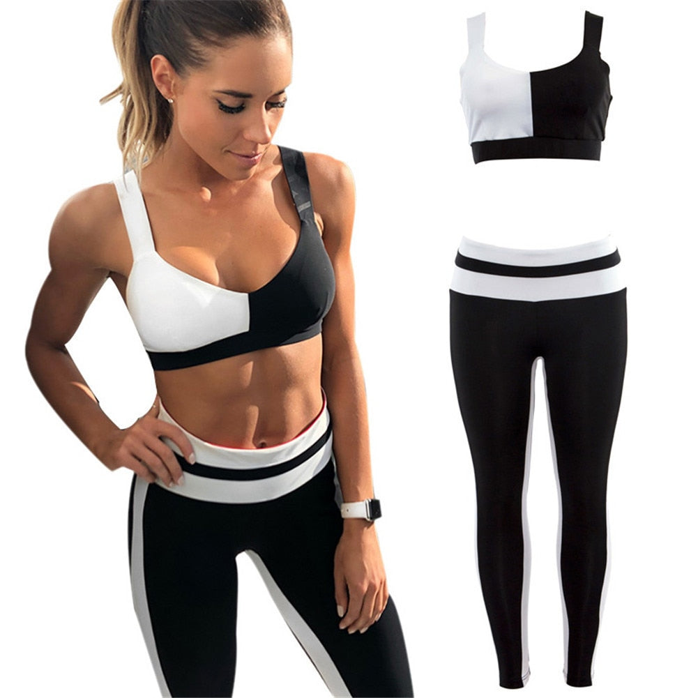 Bra and Sport Leggings Yoga Fitness Activewear - Buddha Vibrations