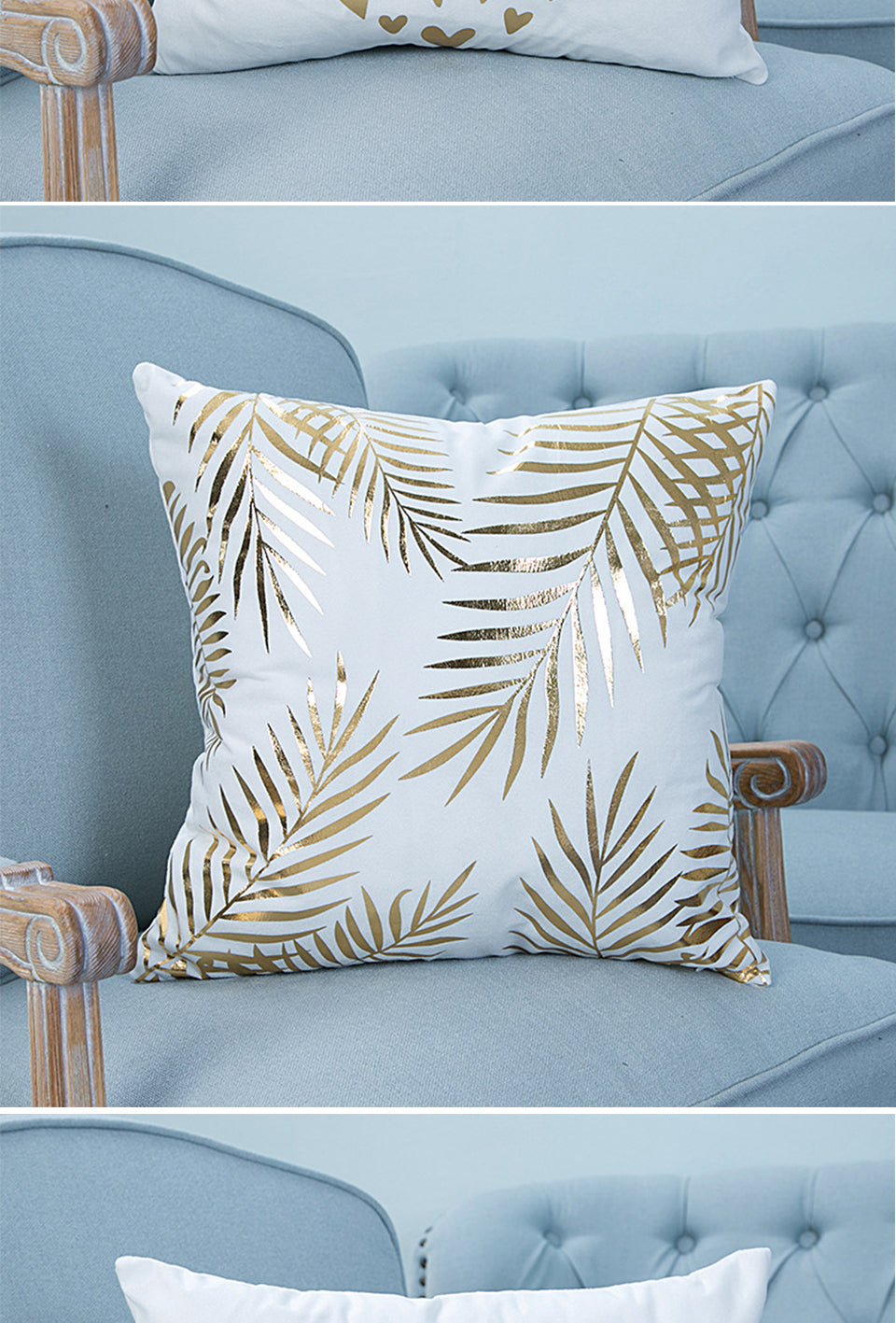 Gold Printed  Bronzing Pillow Cover - Buddha Vibrations