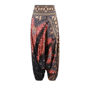 Wide Leg Loose Yoga Trousers - Buddha Vibrations