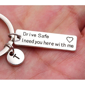 """ I Need You Here With Me""/Engraved Keychain - Buddha Vibrations"