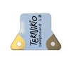 Front view of Teknikio buzzer beepboard electronic component with brand logo printed on front (black, white, gold)