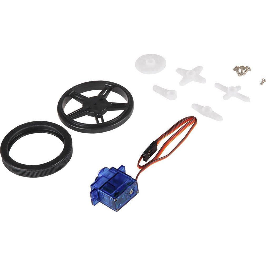Continuous Rotation Microservo and Wheel