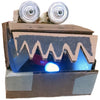 Sample project, cardboard monster with LED light in its mouth
