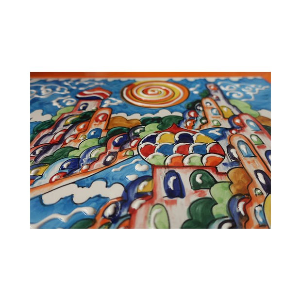 Superb Amalfi Coast Ceramic Tile Wall Art