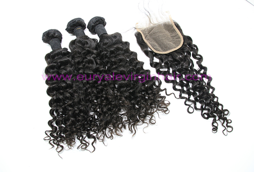 Deep Curly 3 Bundles & 1 Closure