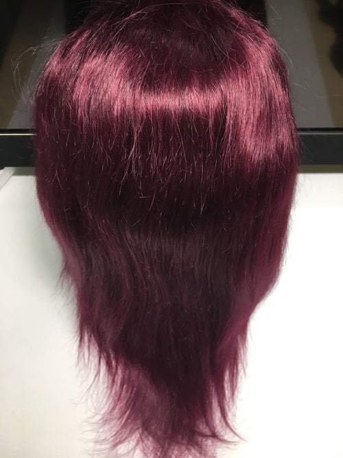 "1 12"" Bright Red(burgundy) Frontal Lace Wig"