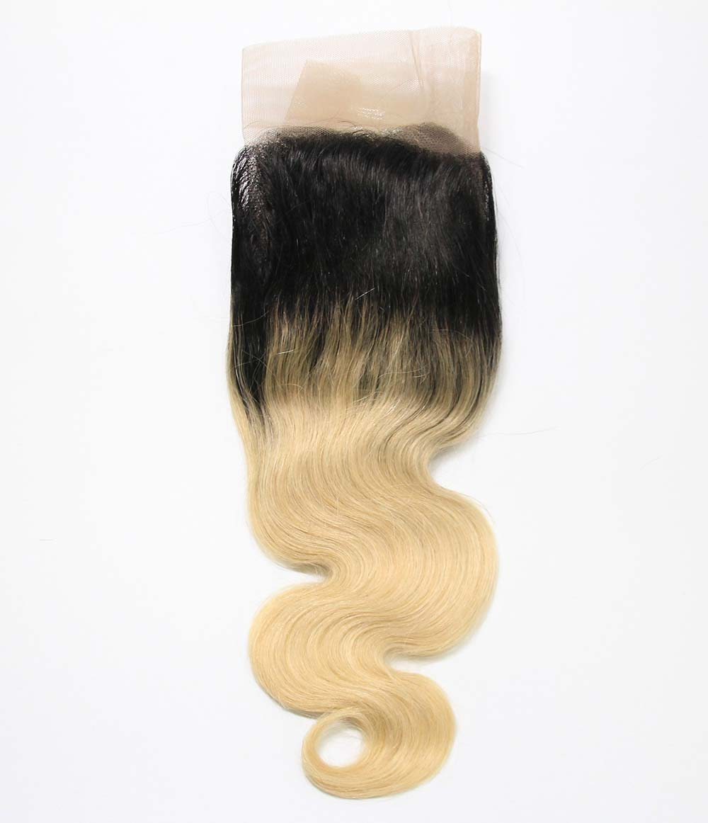 "13""x4"" Dark Root Blonde Lace Frontal"