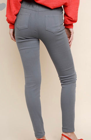 Slate grey jeggings