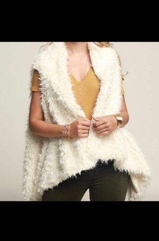 Warm and cozy faux fur vest