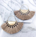 Large tassel statement earrings
