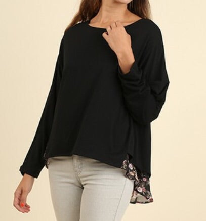 Black high low top runs large