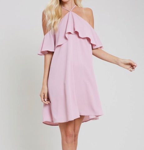 Mauve halter dress