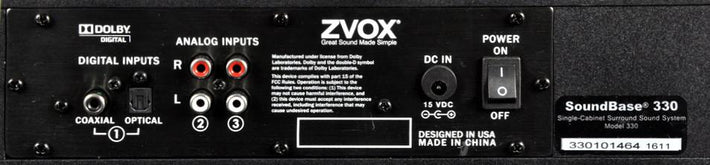 ZVOX 330, Scratch and Dent