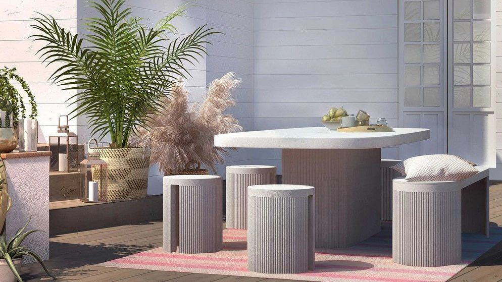 TOV Wave Concrete Stool