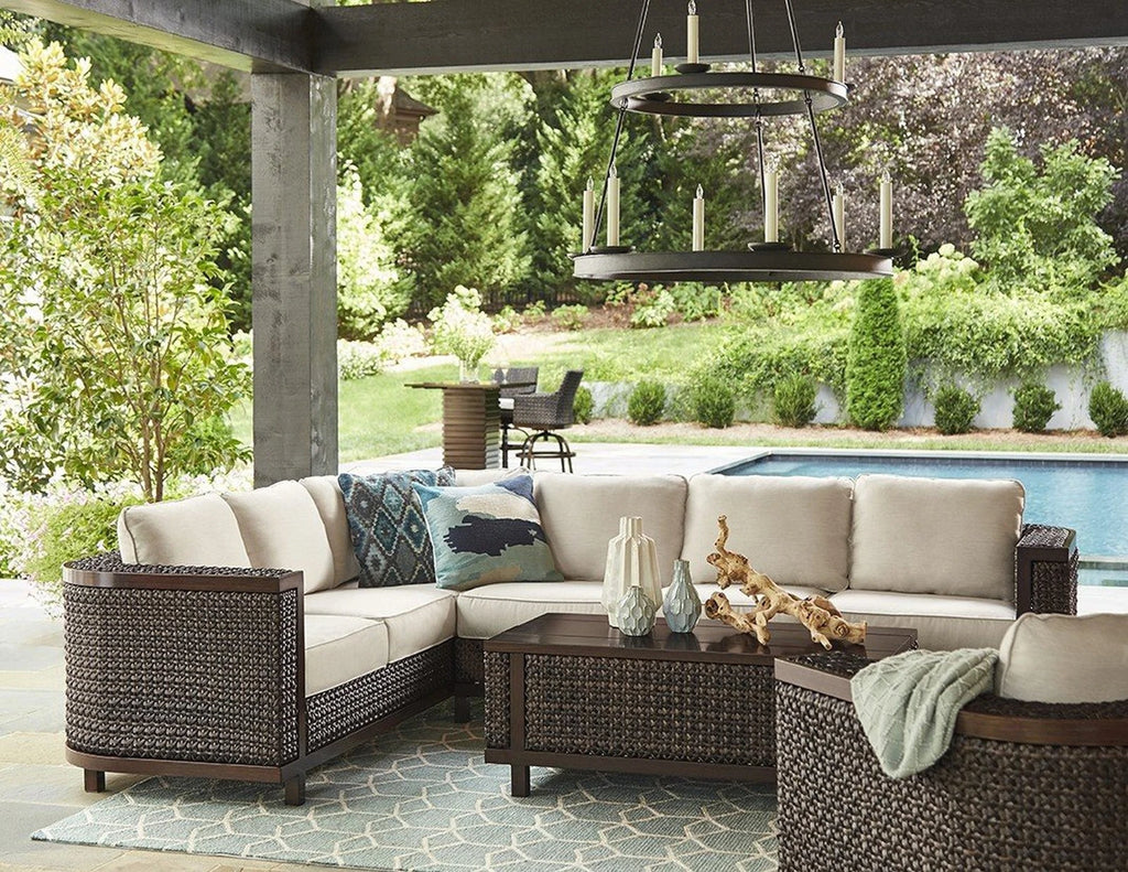 ART Furniture Epicenters Brentwood Outdoor Wicker Armless Loveseat