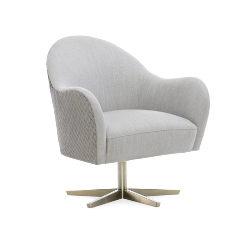 Caracole Modern Edge Upholstery Verge Swivel Chair