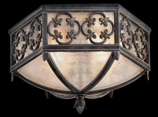 Fine Art Lamps Costa Del Sol Wrought Iron Outdoor Flush Mount