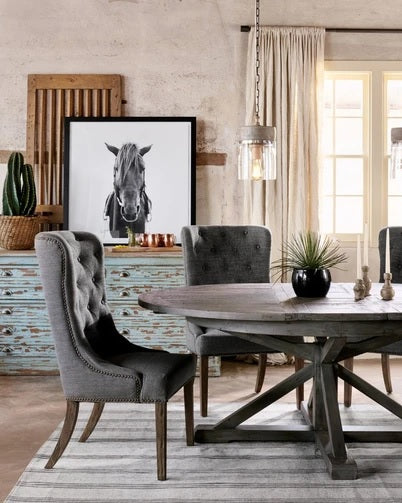 Four Hands Cintra Extension Dining Table 48inch- Rustic Sundried Ash