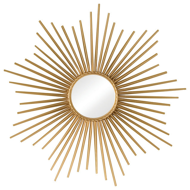 Global Views Sunburst Mirror with Security HDWE-Gold