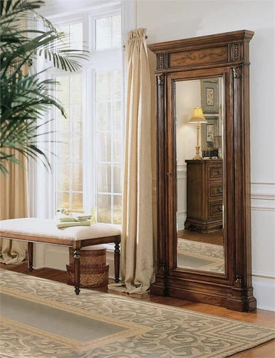 Hooker Furniture Accents Floor Mirror with Jewelry Armoire Storage