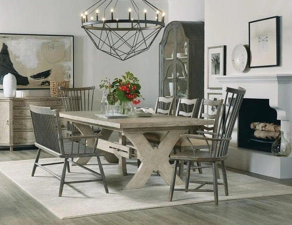 Hooker Furniture Dining Room Alfresco Vittorio 80in Rectangle Dining Table with 2-22in Leaves