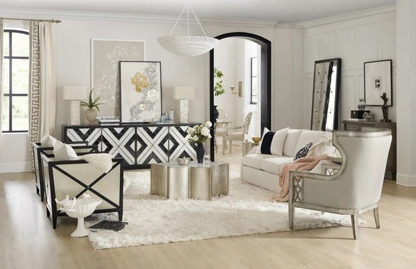 Hooker Furniture Home Entertainment Sanctuary Grand Noir Et Blanc Entertainment Console