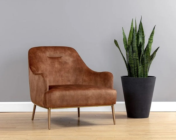 Sunpan Cameron Lounge Chair Nono Rust