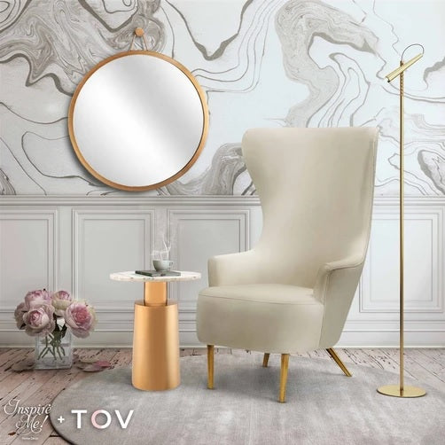 TOV Furniture Julia Wingback Chair by Inspire Me! Home Décor Cream