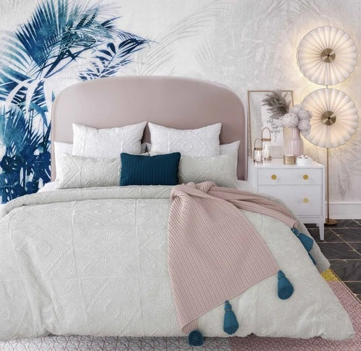 TOV Furniture Vivi Velvet Bed King- Blush