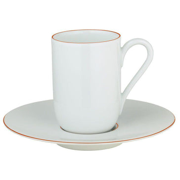 Raynaud Monceau Orange Abricot Expresso Saucer