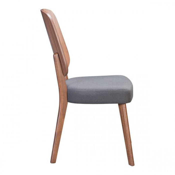 Zuo Alberta Dining Chair Walnut & Dark Gray (set of 2)