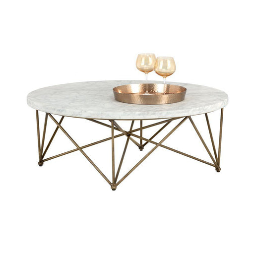 Sunpan Round Skyy Coffee Table