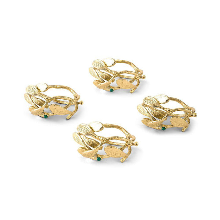Michael Aram Mistletoe Napkin Ring Set