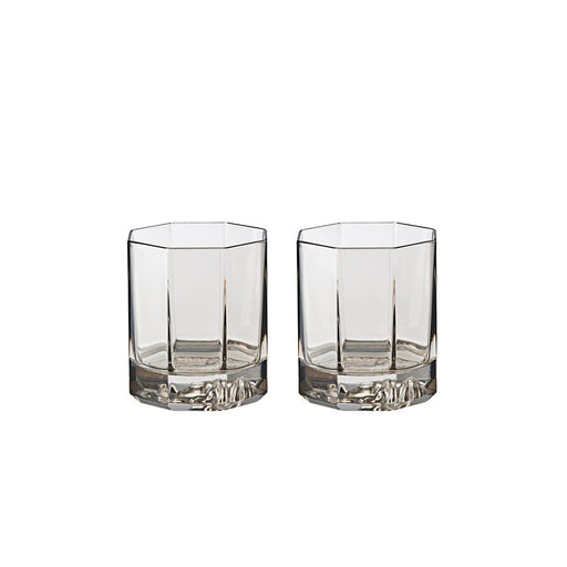 Versace Whiskey Double Old Fashioned 3.5 Inch 5 Ounce Medusa Lumiere Haze (Set of 2)