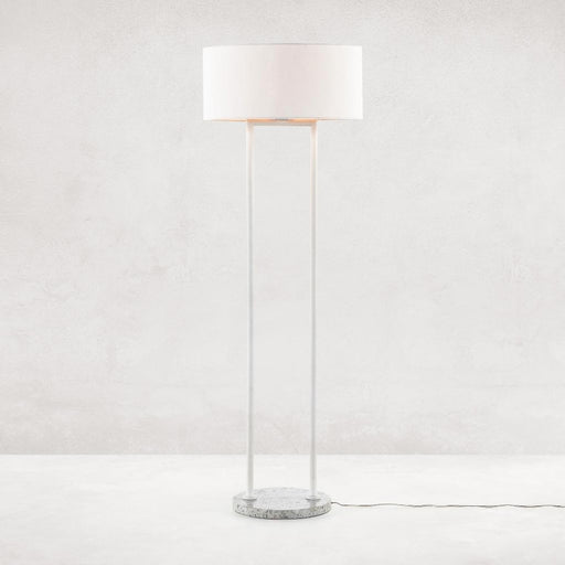Four Hands Noma Floor Lamp-Polished White Terrazzo
