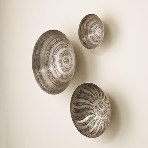 Global Views Sun Etched Wall Bowls Set of 3