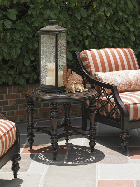 Tommy Bahama Outdoor Royal Kahala Black Sands Round End Table