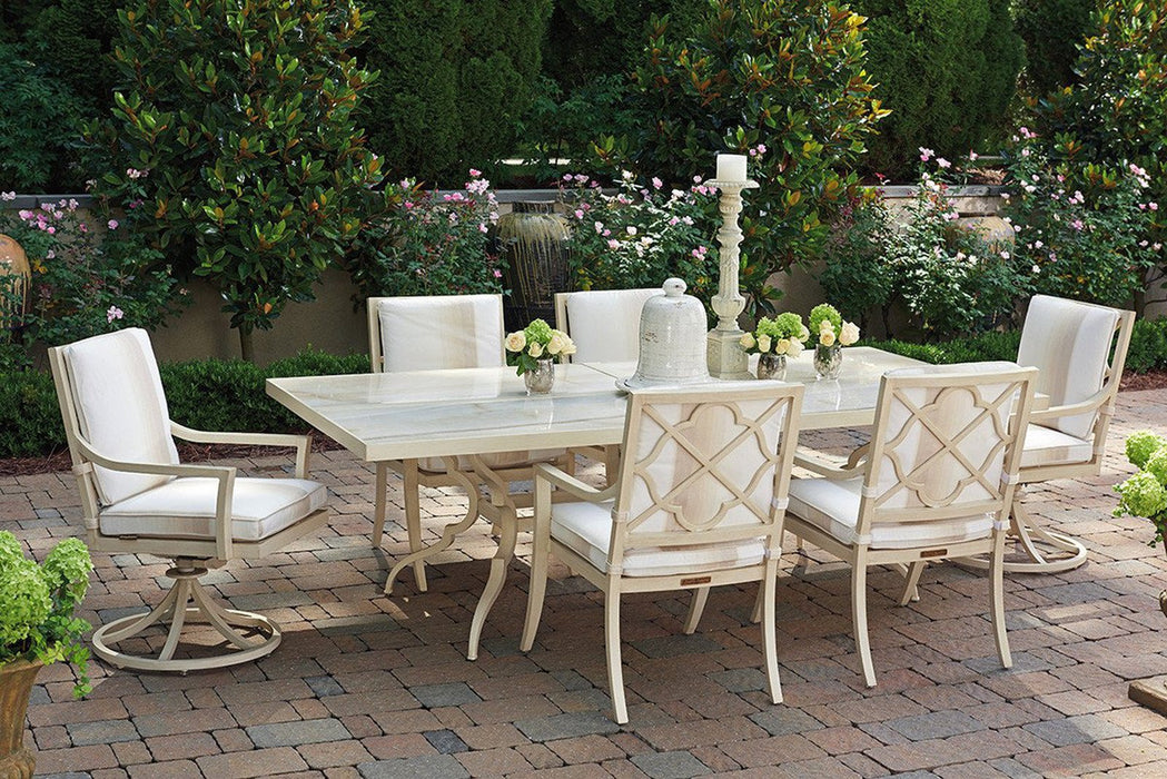 Tommy Bahama Outdoor Misty Garden Dining Table With Porcelain Top