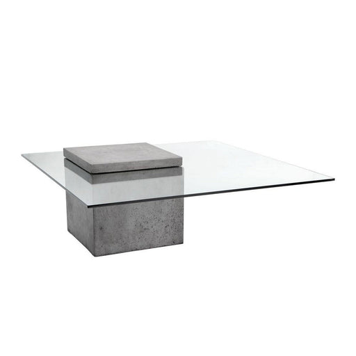 Sunpan Square Grange Coffee Table - Anthracite Grey