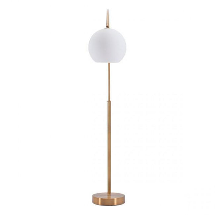 Zuo Griffith Floor Lamp Brushed Brass