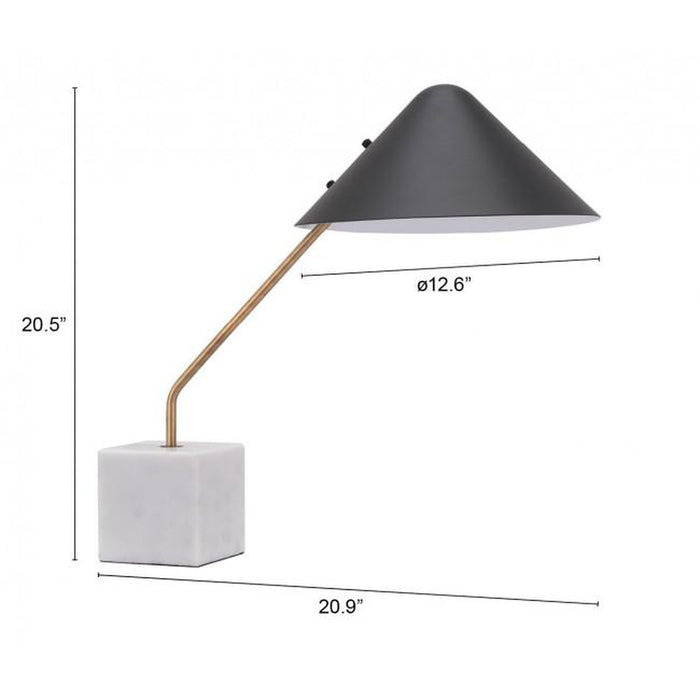 Zuo Pike Table Lamp Black